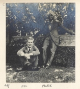 HS Malik and FF Urquhart, Summer Term 1916, under the mulberry tree in Balliol Garden Quad. Baliol College, FF Urquhart Albums 7.44C