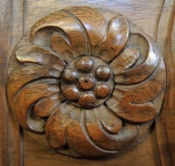 a wooden flower