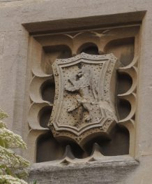 Shield of John de Balliol, King of Scots and son of the founders (Garden quad, Library tower)