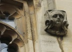 One of the heads decorating the Old Library (front quad, north side/Old Library)